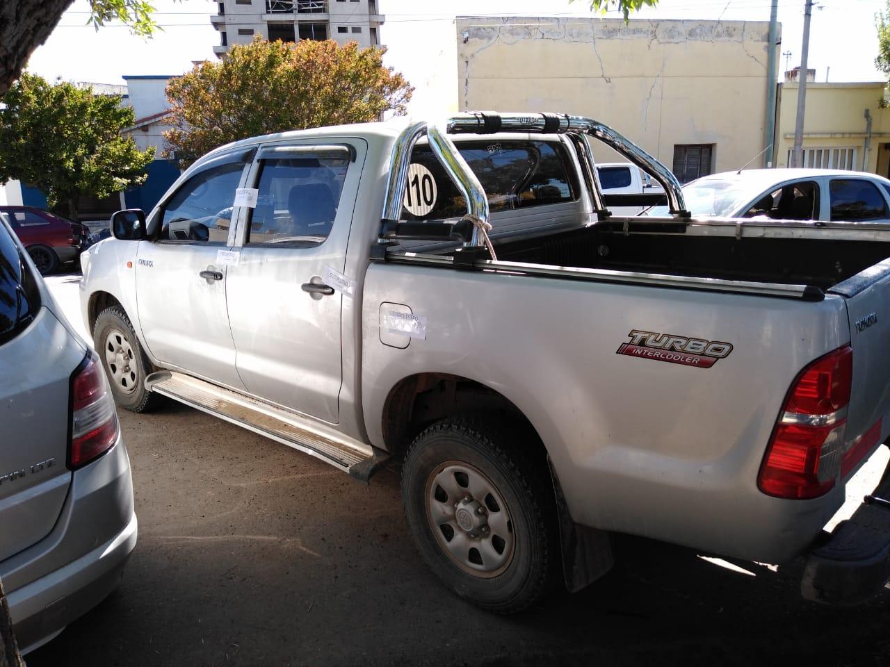 Toyota Hilux robada y recuperada