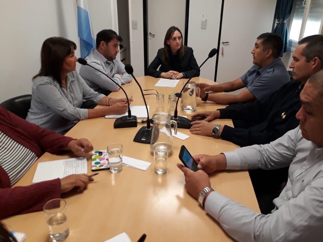 Violencia Familiar: encuentro de autoridades judiciales y policiales de San Antonio y Valcheta